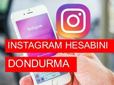 INSTAGRAM Hesap Dondurma Telefondan 2019