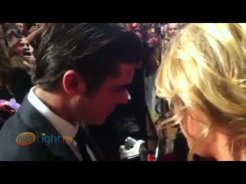 Zac Efron interviewed on the Red Carpet by Lucy Holmes 89.9 LightFM