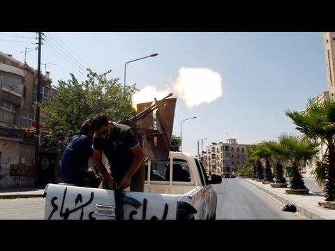 Suriye savaş uçağının düşüş anı...
