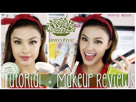 INNISFREE MAKEUP REVIEW | Korean One Brand Makeup Tutorial & Demo