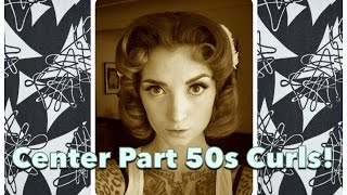 Vintage Hair Tutorial: Center Part 1950's Curls by CHERRY DOLLFACE Thumbnail