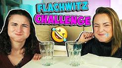 FLACHWITZ Challenge - Du darfst NICHT LACHEN ! WASSERSCHLACHT mit Dania und Bianca
