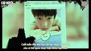 Vietsub Vcr  151108 Letter From Wang Yuan To Fans @ Roys Serenade