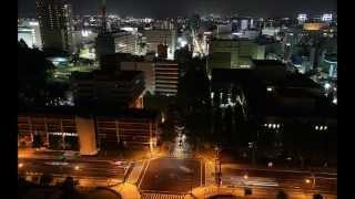 栃木県庁 展望ロビーから見下ろす夜景