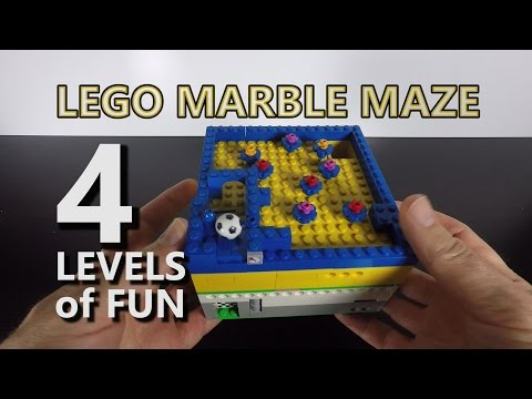 LEGO Marble Maze Madness - 4 Levels of Marble Maze Fun