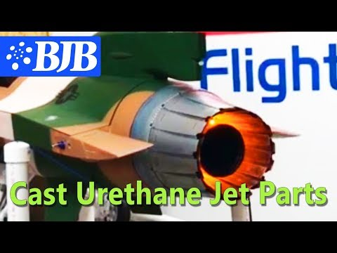 RC Jet Working Tail Exhaust - Made from Cast Parts using BJB Urethane