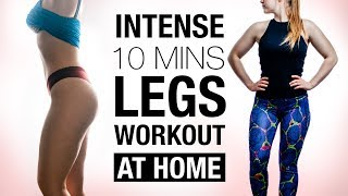 10 Minute Legs, Butt and Thigh Workout ! For a Bigger butt and Toned Legs !