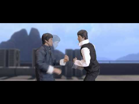 Bruce Lee vs Jackie Chan [stop motion]