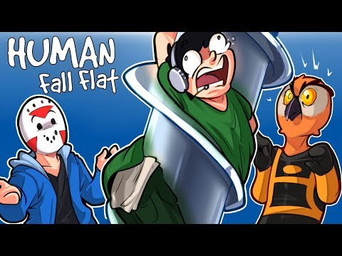 Human Fall Flat - OUR FIRST CUSTOM MAP! (Funny Moments)