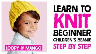 Mini Beanie - learn how to knit children's beanie