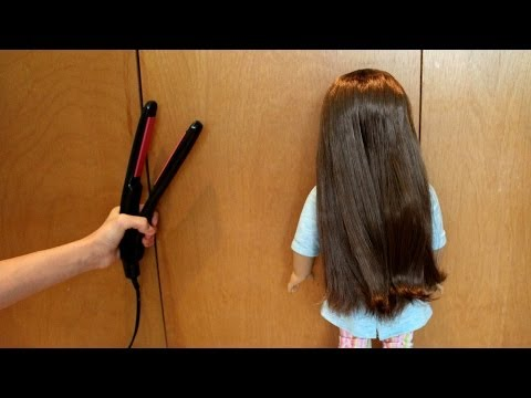 How To Straighten Your AG Doll's Hair!