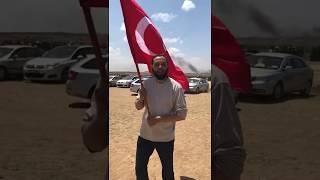Filistin'de Türk bayrağı