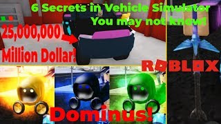 6 SECRETS IN VEHICLE SIMULATOR YOU MAY NOT KNOW (Roblox)