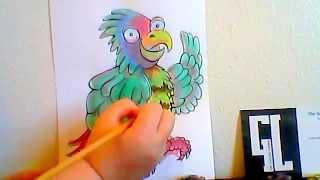 How to Paint a Parrot Part 2