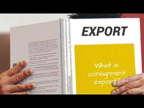 What is consignment export?