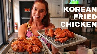 KFC: Korean Fried Chicken at Mahji in NYC | Wings with M'Wife | DEVOUR POWER