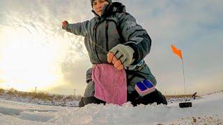 Первый лёд - нашёл перспективные точки для ловли леща! Зимняя рыбалка.