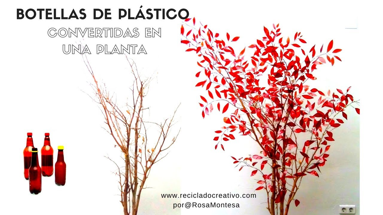 C mo hacer un rbol con botellas de pl stico how to make for Plastico para estanques artificiales