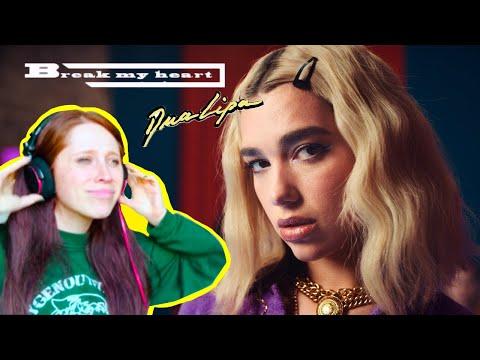 BRITISH GIRL REACTS TO DUA LIPA // BREAK MY HEART // MUSIC VIDEO