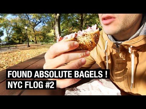 ABSOLUTE BAGELS EXPERIENCE ! NYC FLOG #2 [FOOD VLOG]