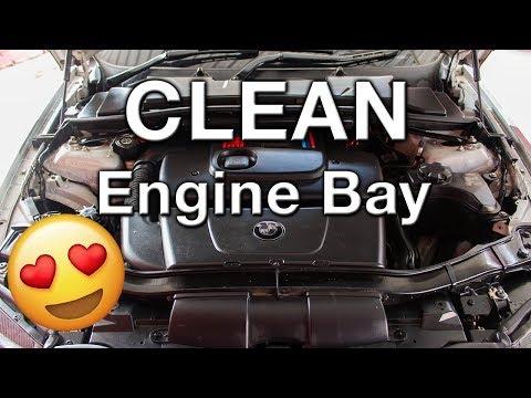 BMW E90 Engine Bay Detail M47B20