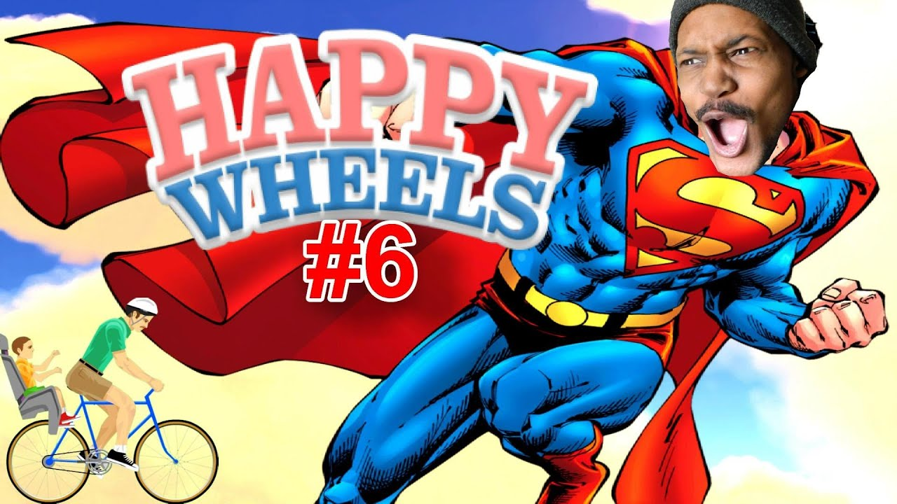 He 39 s superman and he 39 s black happy wheels 6 - Let s play happy wheels ...