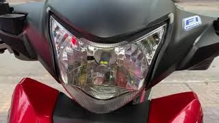 Xe số Honda Wave RSX lên đèn Led XHP70 V70 sáng gấp 4 lần