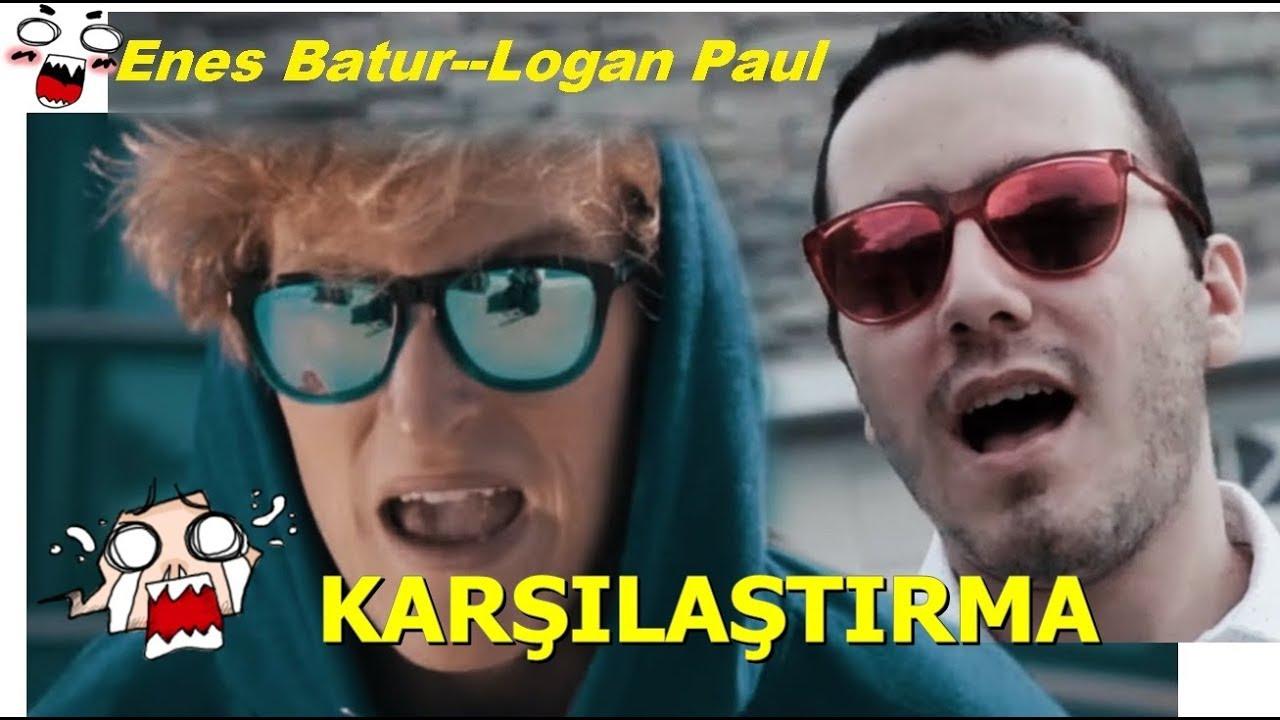 Enes Batur Son Diss Logan Paul Pall Of Jake Klipleri Karsilastirdik Youtube