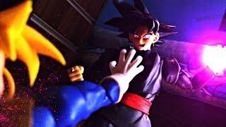 Dragon Ball Super Stop Motion - Goku Black VS Trunks SSJ (PART. 1)