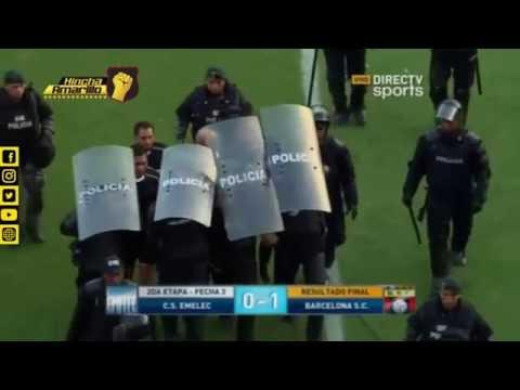 Emelec 0-1 Barcelona | Incidentes post-partido | Estadio Capwell 2016