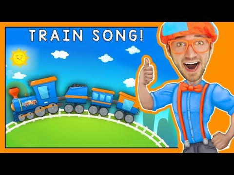 Trains for Children | Fun Train Song by Blippi