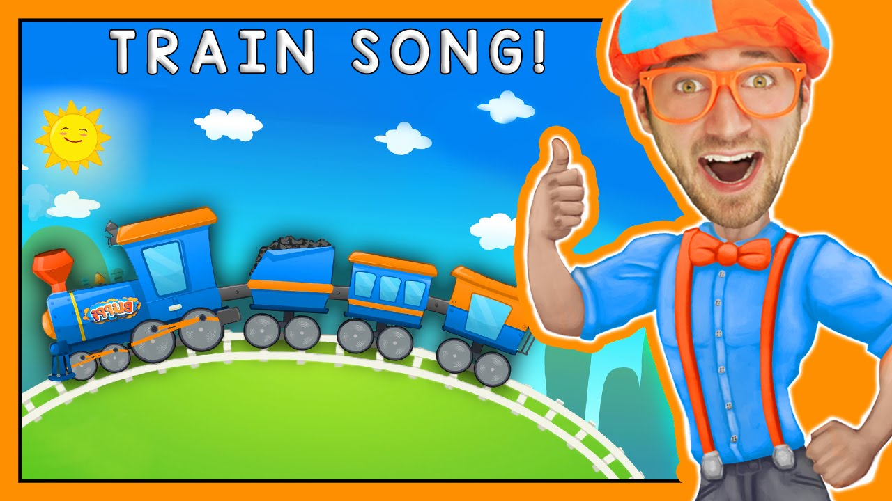 Trains For Children Fun Train Song By Blippi Youtube