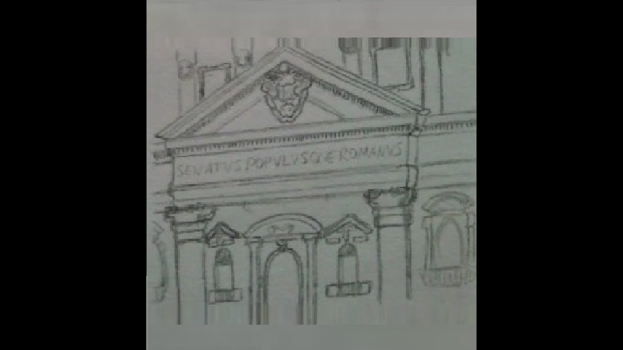 How to draw Architecture of Ancient Greece and Ancient Rome YouTube