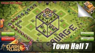 "Clash Of Clans: Th7 Base Design - 3d Box ""farming Base"" Speed Build"