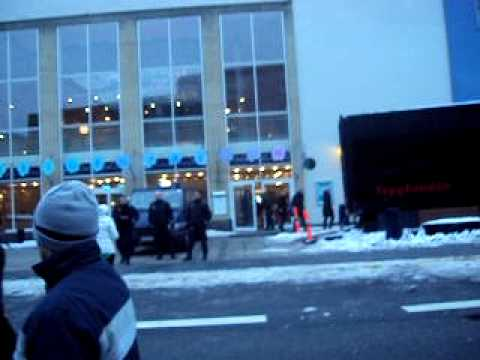 Protest in Denmark against the islamic regime's cermony (daheh fajr) 7 february 2010 part 1