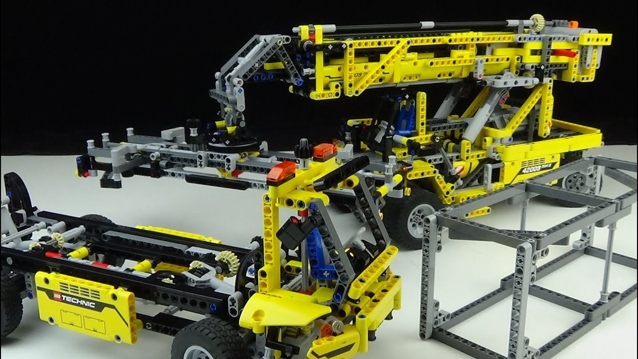 lego technic 42009 b modell container teleskop. Black Bedroom Furniture Sets. Home Design Ideas
