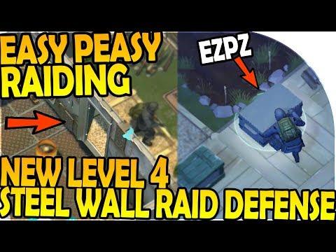 NEW LEVEL 4 WALL STEEL RAID DEFENSE! - EASY PEASY RAIDING - Last Day On Earth Survival 1.7.1 Update