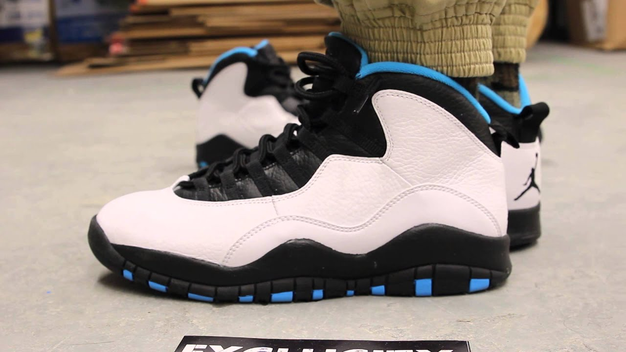 c65555ca8bec6f ... real air jordan x retro powder blue on feet video at exclucity 54c20  56efb