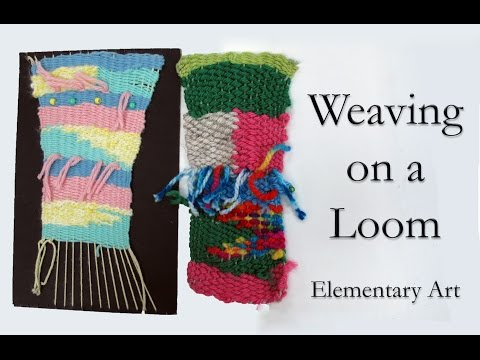4th Grade Weaving on a Loom