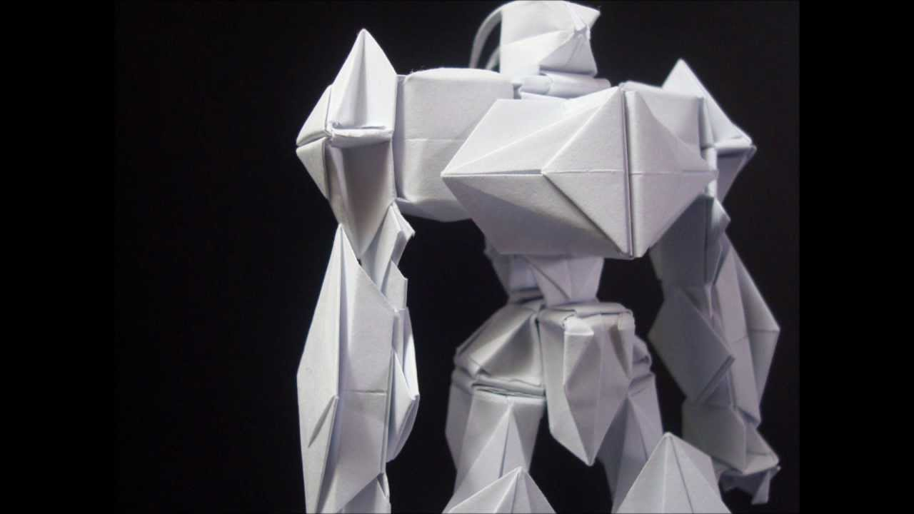 how to make an origami robot