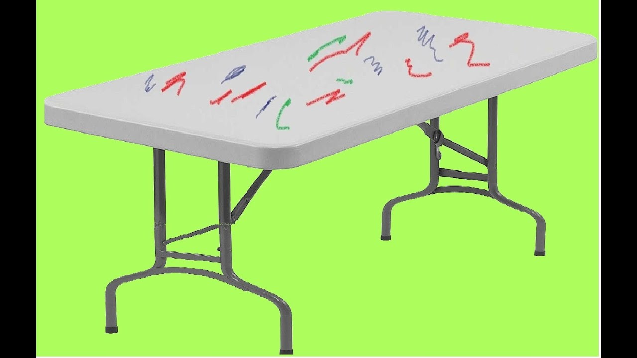 Remove Crayon Ink And More From White Plastic Tables   Easy And Cheap!