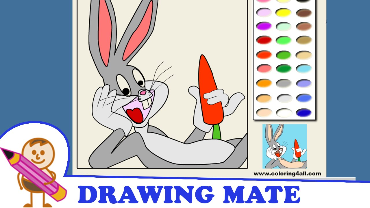 bugs bunny coloring pages kids colouring sheets kolorowanki