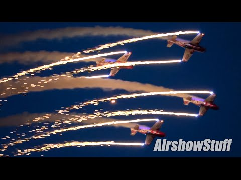 Pyrotechnic Aerobatics with the Global Stars