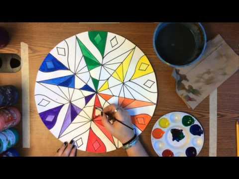 Painting Mandada Colorwheel