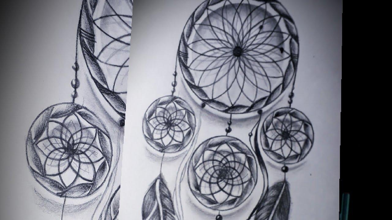 Dibujo Atrapa Sueños 3d A Lápiz Por Primera Ves 2018 Drawin