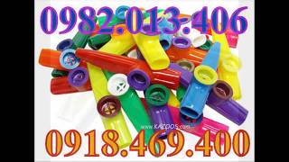 Kèn kazoo nhiều màu sắc , hướng dẫn thổi kèn kazoo - Nhạc cụ Nụ Hồng