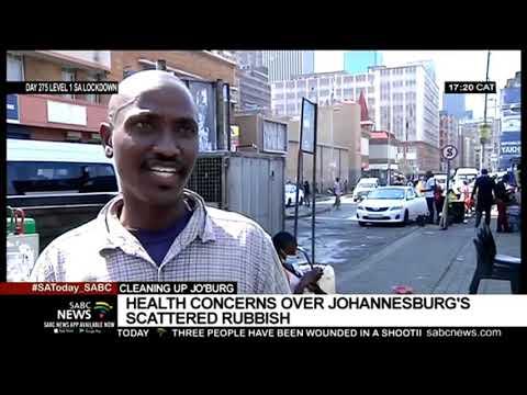Concern over Joburg's scattered rubbish