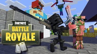 Monster School: FORTNITE BATTLE ROYALE CHALLENGE X PewDiePie - Minecraft Animation