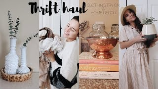 THRIFT STORE HAUL | clothing try on & home decor