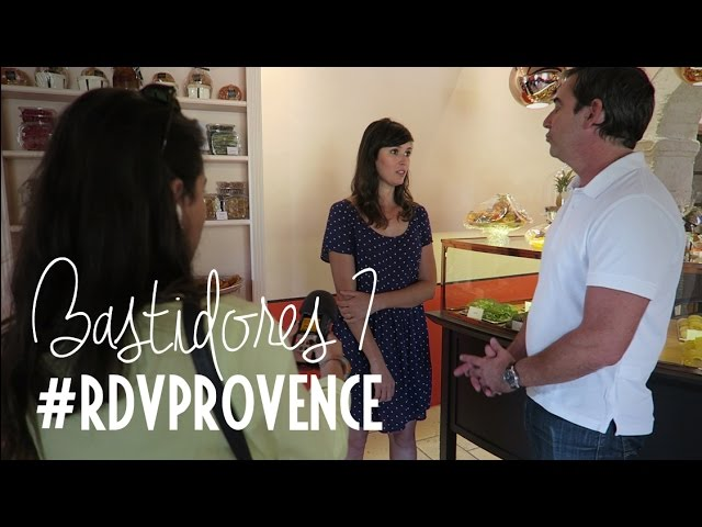 Bastidores do vídeo do baba au rhum do #RDVPROVENCE